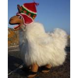 Peluche llama loca ou le Lama fou - alpaga blanc