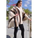 Poncho en laine beige
