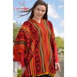 Le traditionnel poncho Cuzco rouge