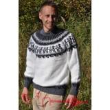 Pull épais en laine blanc