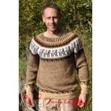 Pull épais en laine beige