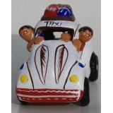 Taxi de la cordillère des Andes blanc