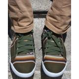 La chaussure des Incas couleur kaki