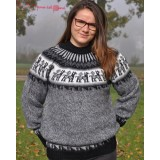 Pull chaman gris