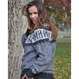 Pull chaman gris clair
